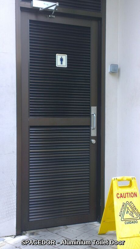 Aluminium Toilet Louvers Door Spacedor Marketing Pte Ltd