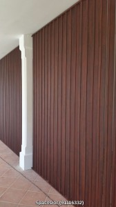 Aluminium Wall Screen With Wood Grain Design