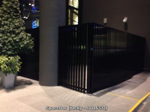 Aluminium Wall Screen with Wood Grain Furnish