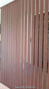 Aluminium Wooden Grain Design Wall Screen