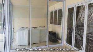 additional room with heavy duty aluminium sliding glass door