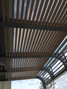 Wood Grain Aluminium Trellis Roof Shelter